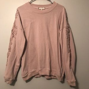 Anthropologie Eri+Ali embroidered sweatshirt XL